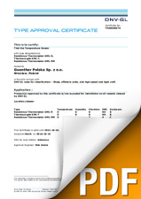 Type Approval Certificate_DNV_GL Serie MarineTECH